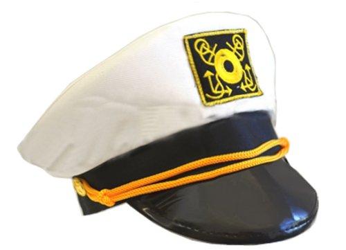 Cotton Yacht Cap-White (adjustable/58cm)