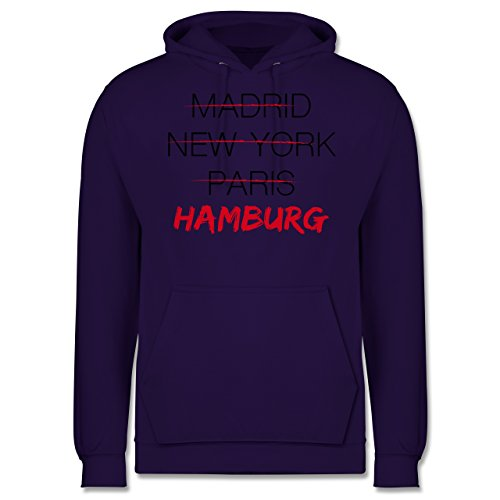 Städte - Weltstadt Hamburg - Männer Premium Kapuzenpullover / Hoodie Lila
