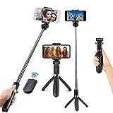 LVDI Perche Selfie Bluetooth de Trépied,Bâton Réglable Télescopique pour...