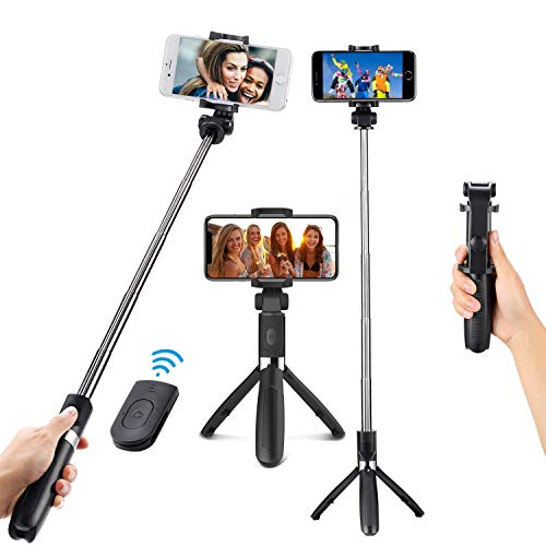 LVDI Perche Selfie Bluetooth de Trépied,Bâton Réglable Télescopique pour Smartphones