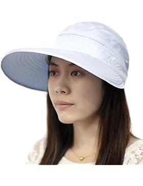 TININNA Gorra Con Visera Sombrero Mujer de Summer diseño de playa de perro Bulldog con un sombrero ala ancha de...