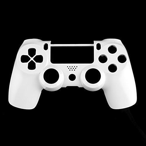 PS4 Ersatz Case Gehäuse Oberschale für Dualshock 4 Controller Gamepad - Weiß Matt
