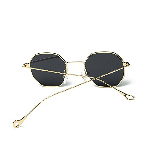 iCerber UV400 Damenmode Mode Metall Unregelmäßigkeiten Rahmen Brillen Klassische Sonnenbrillen Polarisierte Sonnenbrille für Herren, Schick Klassische Retro Platz Polarisiert Sonnenbrille Damen Herren