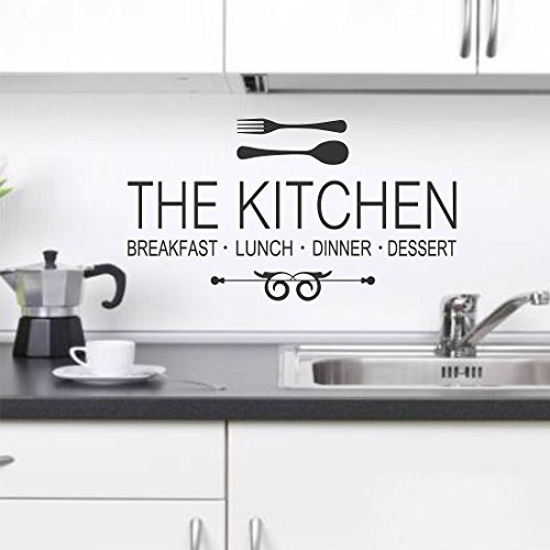 Wallstick 'The Kitchen' Wall Sticker (Vinyl, 49 cm x 4 cm x 4 cm)