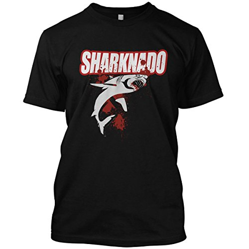 net-shirts Sharknado T-Shirt, Größe L, Schwarz