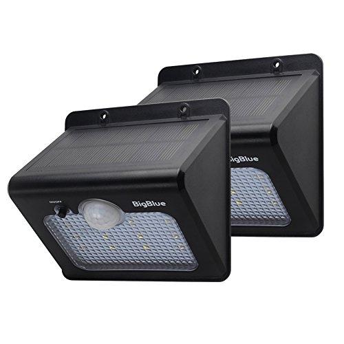 BigBlue Lampe Solaire Jardin sans Fil LED avec Paneau Solaire IPX5 ...