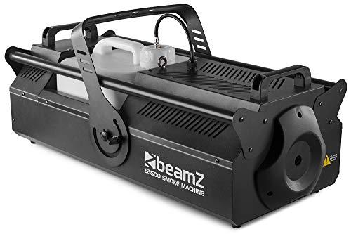 beamZ S3500 Nebelmaschine • 3.500 Watt • DMX-Steuerung • Kontrollfläche mit LCD-Display • Ausstoßvolumen: 1.217 m³ pro Minute • Tankvolumen: 10 Liter • Nachheizzeit: 90 Sekunden • schwarz