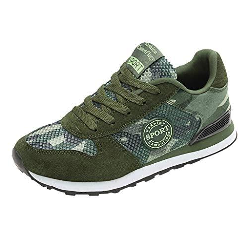 Frauen Herren Paare Camouflage Mesh Atmungsaktive-Sport Laufschuhe-Turnschuhe Damen Sneakers Breathable Outdoor Schuhe,Joggingschuhe-Runningschuhe URIBAKY