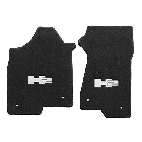 2003-2007-h2-hummer-ebony-black-floor-mats-silver-h2-logo-by-lloyd-mats