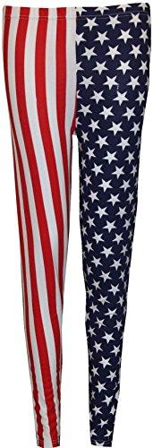 Generic - Legging - Skinny - Femme U.S.A Flag Print