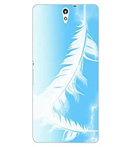 ColourCraft Lovely Feathers Design Back Case Cover for SONY XPERIA C5 E5553 / E5506