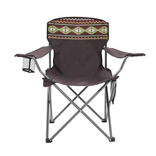 LP Bar stool Chaise de Camping Pliante pour la randonnée, Fauteuil de Festival en Plein air portatif, Chasse, Chaise de Camping, Regarder Les matchs de Football, Pêche, Pique-Nique, Barbecue (Brun)