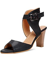 Meriggiare Women Synthetic Black Heels