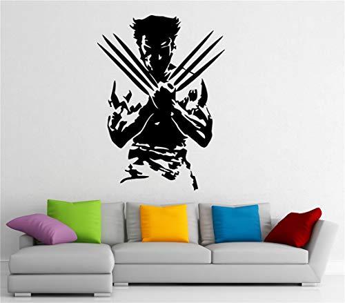pegatinas de pared 3d infantil Wolverine Superhero Tatuajes de Pared Etiqueta de Vinilo de Pared Marvel Comics Interior Home Art Murales de Pared Dormitorio Decoración Del Hogar