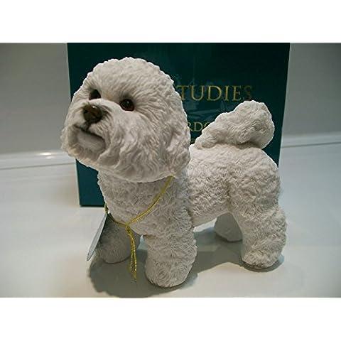 Leonardo Bichon Frise dog Ornament-Statuina di nuovo, in confezione regalo, Leonardo Collection