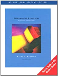 Operations Research: Applications and Algorithms by Wayne L. Winston (1998-06-26)