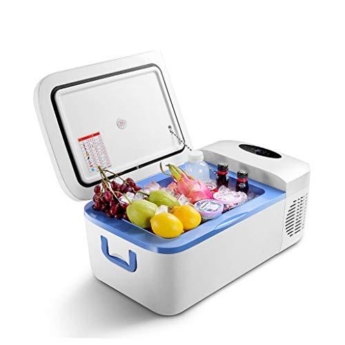 LXD@# Autokühlschrank-12 Liter tragbarer Kompressor Kühlschrank mit Gefrierfach, 12 V / 24 V / 220 V - Blau/Weiß