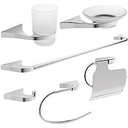 Ideal para baños Savisto - Turín Taps Set de accesorios para (, 6 unidades)