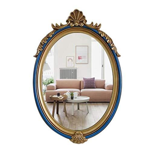 Specchio- Specchio da Parete Ovale Decorativo per bagni, camere da Letto, credenze e Decorazioni antiche JING0605