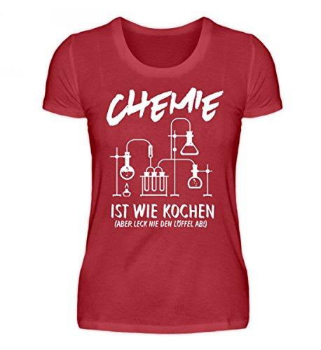 Shirtee Hochwertiges Damen Organic Shirt - Chemie Shirt · Chemiker · Chemikerin · Experiment · Reagenzglas · Chemielabor · Beruf · Lustig · Spruch · Pulli · Jacke · Hoodie · T-Shirt · Geschenk