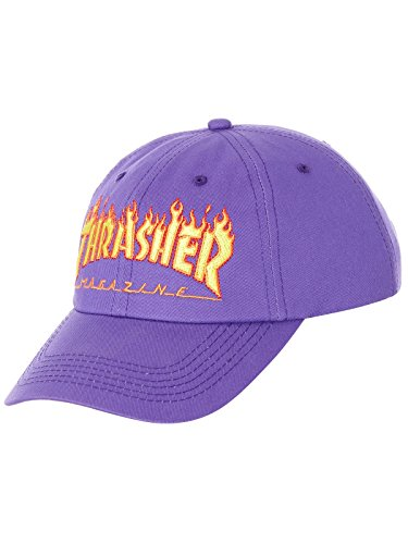 Thrasher Flame Old Timer purple Gorra