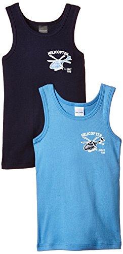 Schiesser Jungen Unterhemd Set: Hemd 0/0 2 Stück, 2er Pack, Gr. 104, Mehrfarbig (sortiert 1 901)