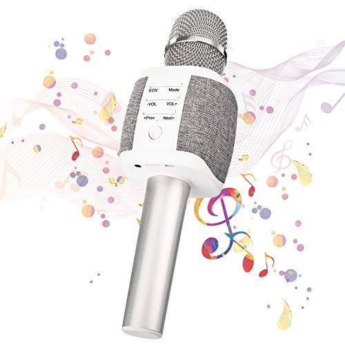 bluetooth Karaoke Mikrofon, NASUM, tragbar drahtlos Microfon, Lautsprecher für die Aufnahme von Sprach und Gesang, für Party, Familie. kompatibel mit Android/IOS, PC oder Alle Smartphone.