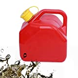Bomboletta di plastica Bomboletta di gas Bomboletta di carburante a prova di sversamento Serbatoio di sicurezza addensato benzina Benzina antistatica a prova di esplosione Can-5L / 1Gallon, rosso