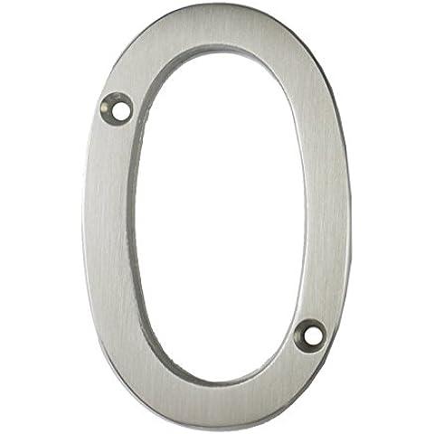 3inch sottile costiere Porta numero, colore: argento satinato porta numero 0–Non Pit o ruggine anche a la costa