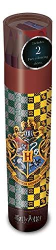 HARRY POTTER AFSR72386 Tube Couleurs + Taille-Crayon, Papier, Multicolore, 30 x 91,5 x 1,3 cm