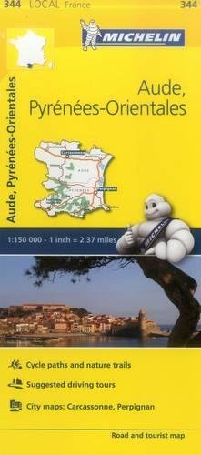 Aude, Pyrenees-Orientales - Michelin Local Map 344 (Mapas Local Michelin) (Michelin Maps Deutschland)
