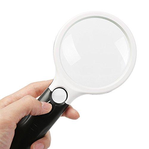 Bai Su 20X 3LED Handheld Magnifer Lesen Lupe Objektiv Uhr Lupe Karte Zeitung Buch Lesen Lupe Schmuck Lupe Größe: 210x103x30mm