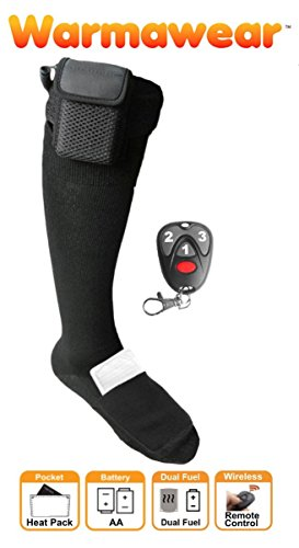 Warmawear Battery Heated Socks with Dual Fuel Pocket and Remote Control (Large)