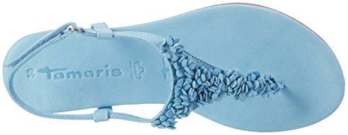 Tamaris 28121, Sandales Bout Ouvert Femme Bleu (Blue Uni 865)