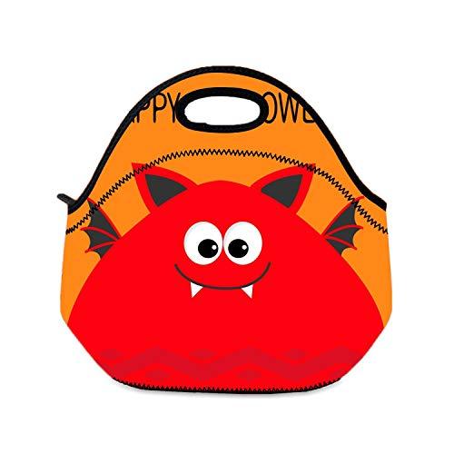 Lunchbox-Tasche, Happy Halloween, lustige Monster Head Lunchboxen für Mädchen, faltbar