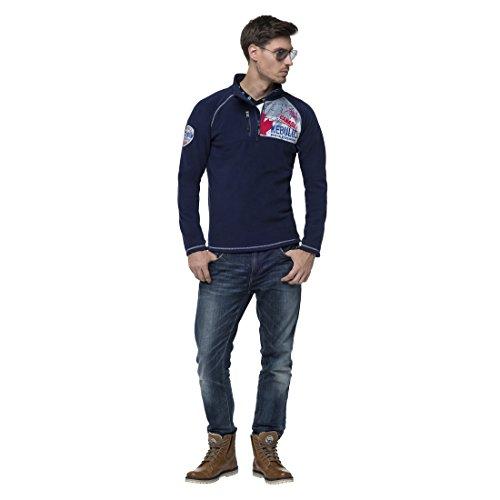 Nebulus Herren Larna Fleecesweater Marineblau