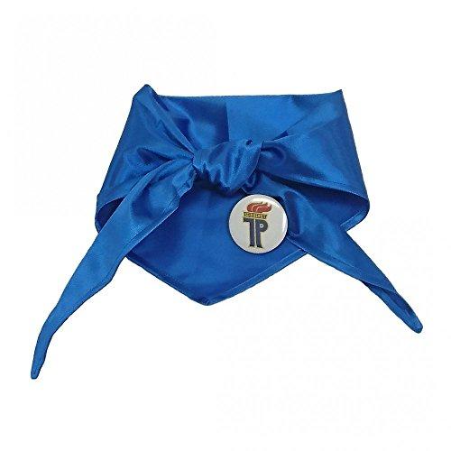 Preisvergleich Produktbild Halstuch Jung Pionier blau inkl. Anstecker DDR Mottoparty Ostalgie