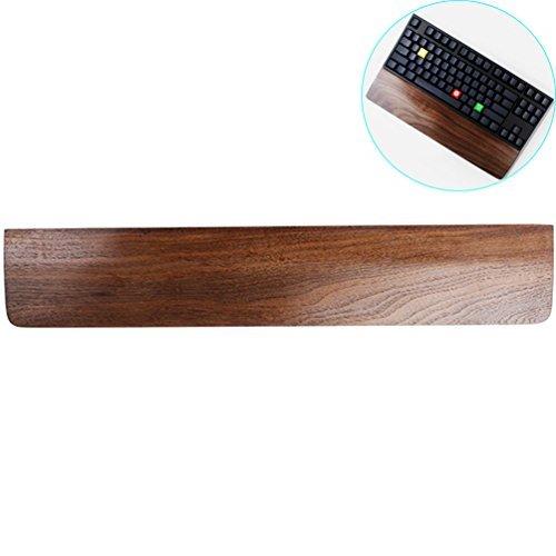 ZZ Beleuchtung Creative Mechanische Tastatur Halter Massiv Holz Hand Pad, Handgelenk Pad, Palm Rest 60-Key Black Walnut