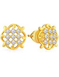 Malabar Gold And Diamonds 22k Yellow Gold And Cubic Zirconia Stud Earrings