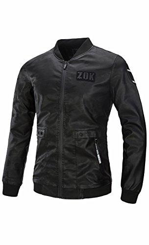 UMilk Herren Casual Slim PU Lederjacke Mantel Oberbekleidung (Wildleder-fransen-jacke Braune)