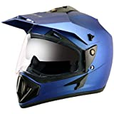 Vega Off Road OR-D/V-DMB_M Full Face Motocross Helmet (Dull Blue, M)