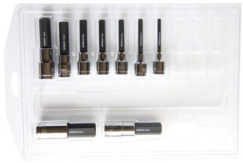 Bondhus 432984-17mm 2Zoll Stecknuss ProHold Bits mit Sockets, Set 9
