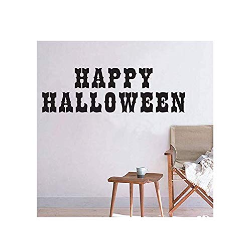 Wandaufkleber Wandaufkleber Für Kinderzimmer Dekorationen Vinly Diy Halloween Festival Party Abziehbilder Wandkunst Poster 128X40 Cm alphabet tiere kunst für schlafzimmer wandaufkleber