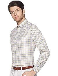 Park Avenue Men's Checkered Regular fit Formal Shirt
