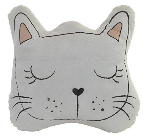 Item Kissen mit Form von Gesicht Tiere, Kunststoff, Weiß, 24.0x 10.0x 25.0cm