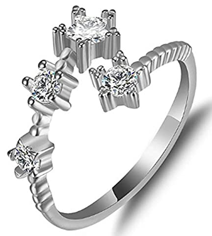 SaySure - Engagement Rings Real 925 Sterling Silver Adjustable