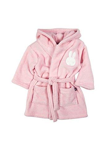 Miffy Baby bademantel mit Kapuze, Farbe Rosa Größe 62/68
