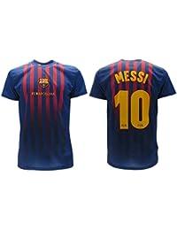 Camiseta Jersey Futbol Barcelona Lionel Messi 10 Replica Autorizado 2018-2019 Niños (2,