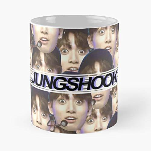 Jungshook - Jungkook Filled Design Blue Classic Mug Best Gift For Your Friends