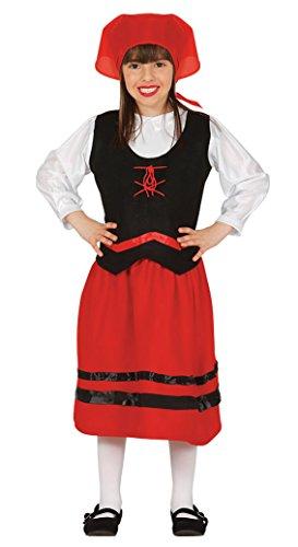 Imagen de guirca  disfraz infantil de pastorcita, 3 4 años, color rojo 42755.0